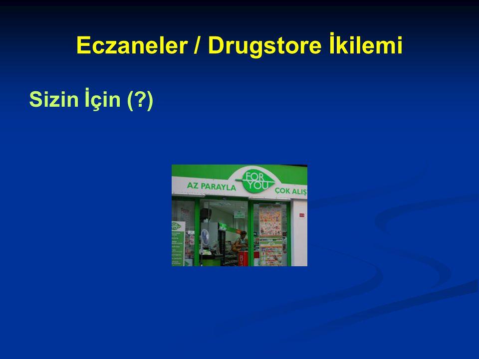 Eczaneler / Drugstore İkilemi