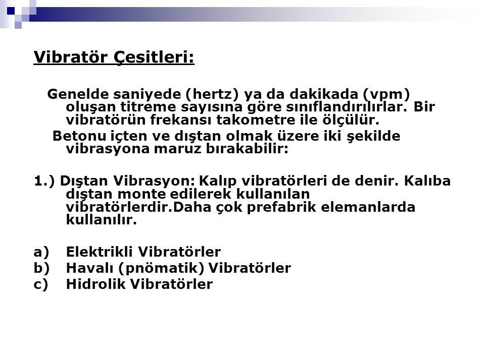 Vibratör Çesitleri: