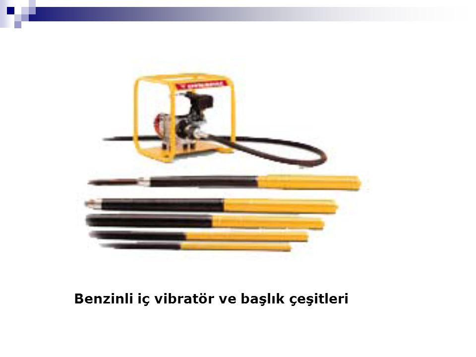 Benzinli iç vibratör ve başlık çeşitleri