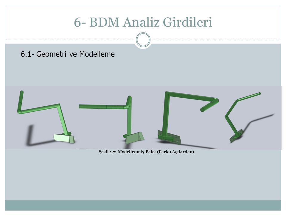6- BDM Analiz Girdileri 6.1- Geometri ve Modelleme