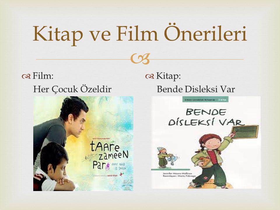 Kitap ve Film Önerileri