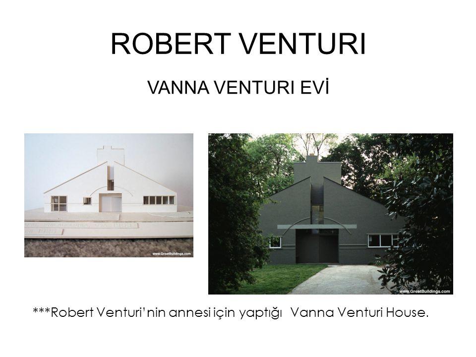 ROBERT VENTURI VANNA VENTURI EVİ