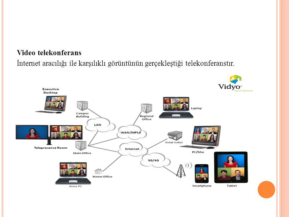 Video telekonferans İnternet aracılığı ile karşılıklı görüntünün gerçekleştiği telekonferanstır.