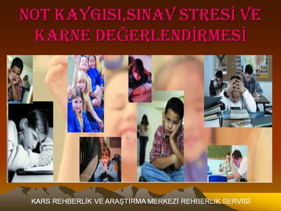NOT KAYGISI,SINAV STRESİ VE KARNE DEĞERLENDİRMESİ