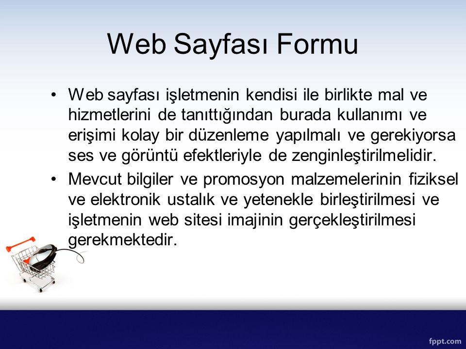 Web Sayfası Formu