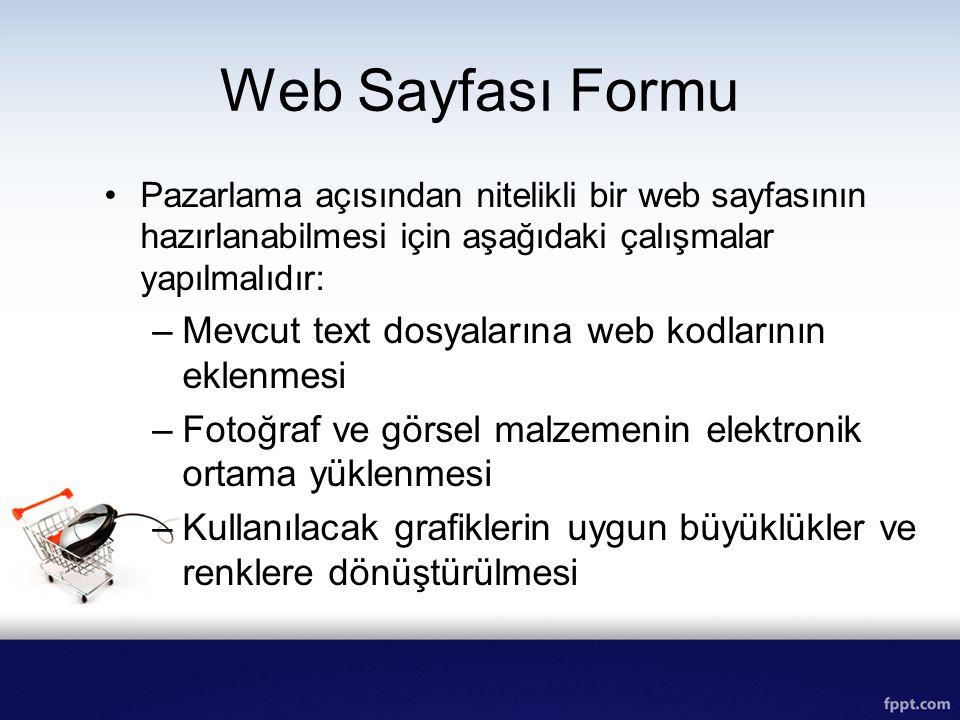 Web Sayfası Formu Mevcut text dosyalarına web kodlarının eklenmesi