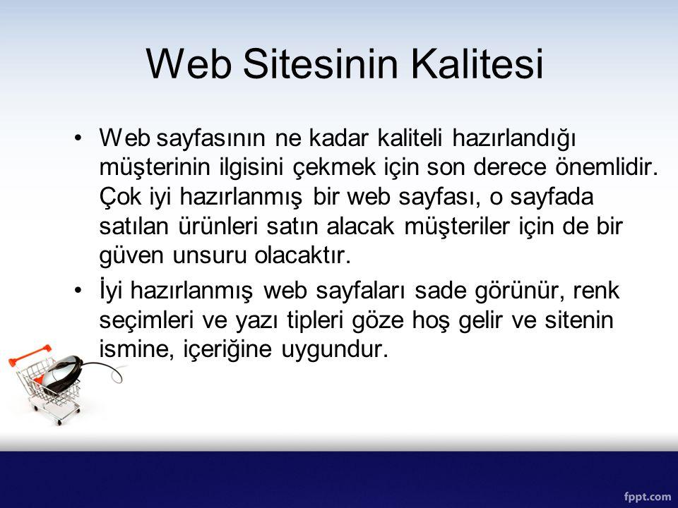 Web Sitesinin Kalitesi