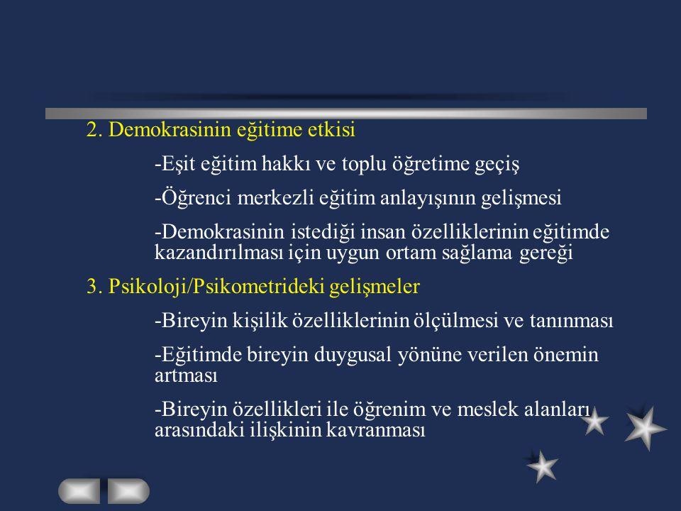 2. Demokrasinin eğitime etkisi