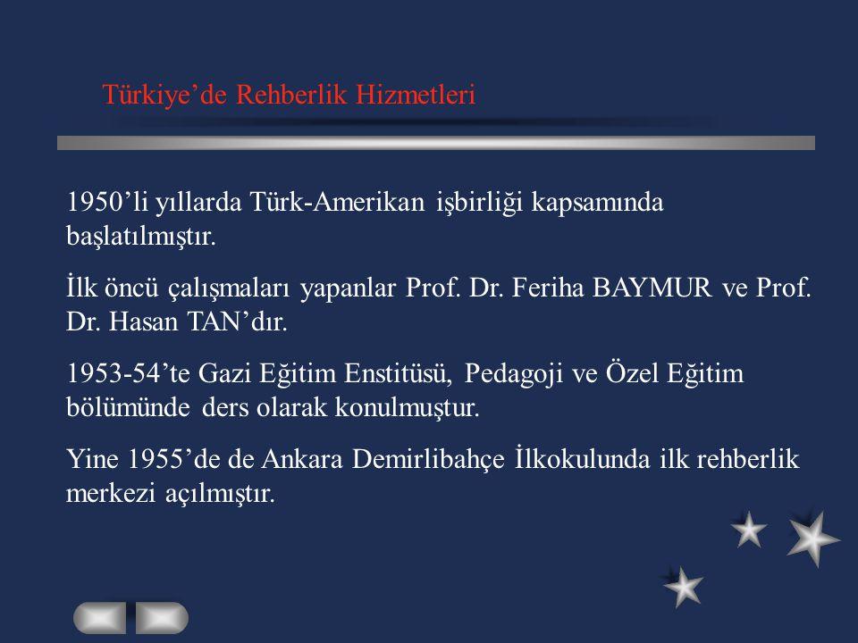 Türkiye'de Rehberlik Hizmetleri