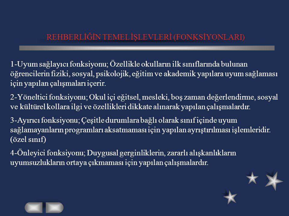REHBERLİĞİN TEMEL İŞLEVLERİ (FONKSİYONLARI)