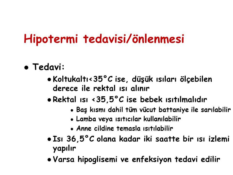 Hipotermi tedavisi/önlenmesi