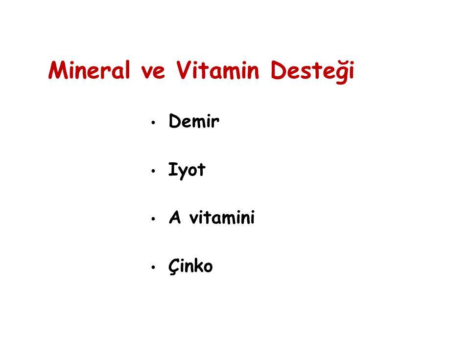 Mineral ve Vitamin Desteği