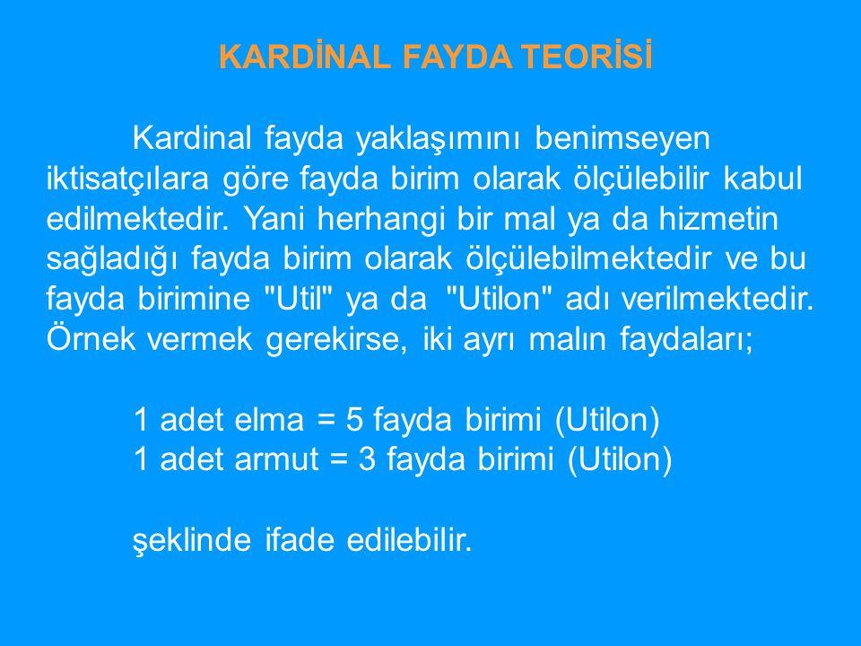 KARDİNAL FAYDA TEORİSİ