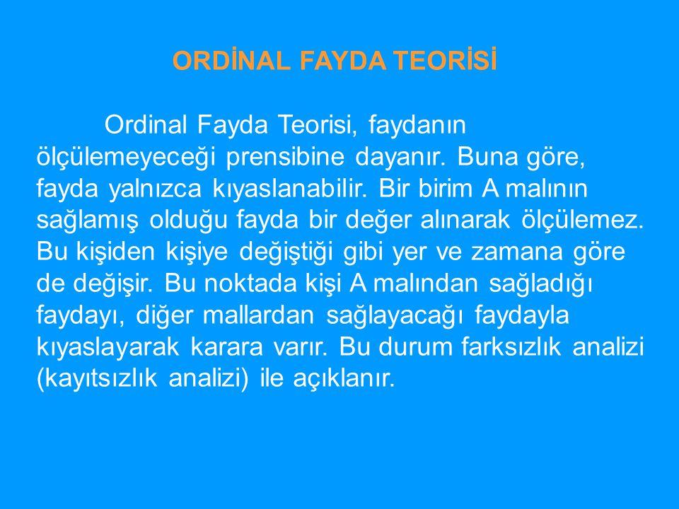 ORDİNAL FAYDA TEORİSİ
