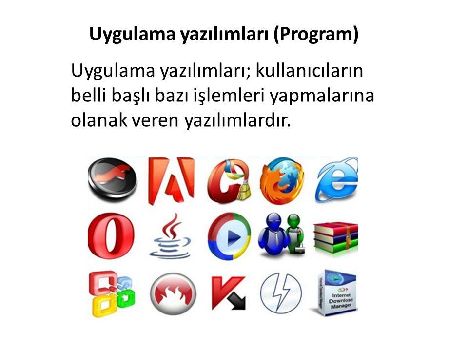 Uygulama yazılımları (Program)