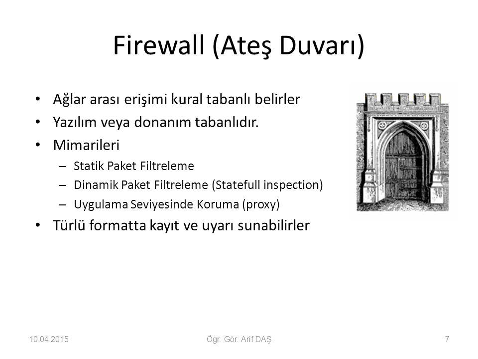 Firewall (Ateş Duvarı)