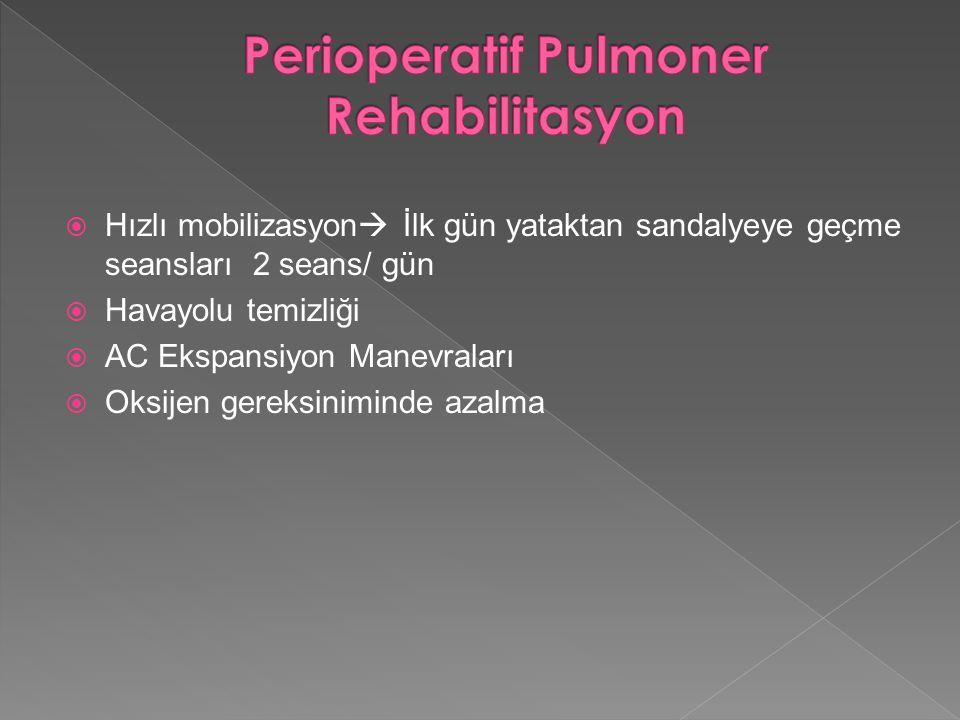 Perioperatif Pulmoner Rehabilitasyon