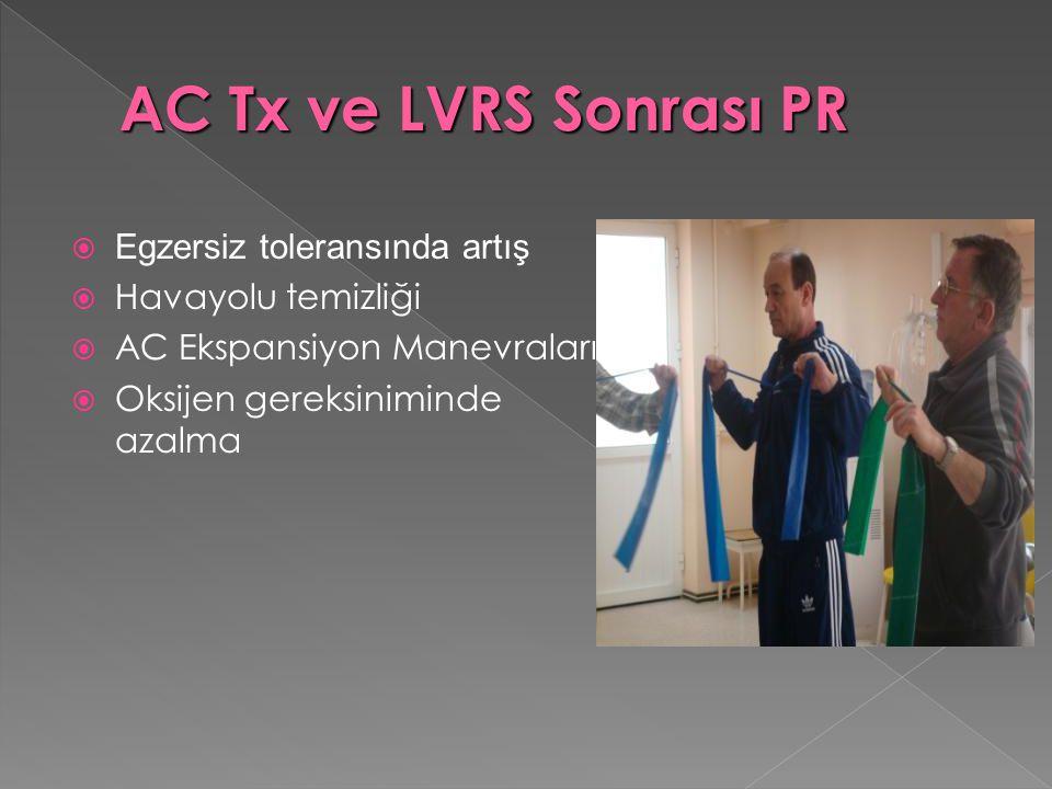 AC Tx ve LVRS Sonrası PR Egzersiz toleransında artış