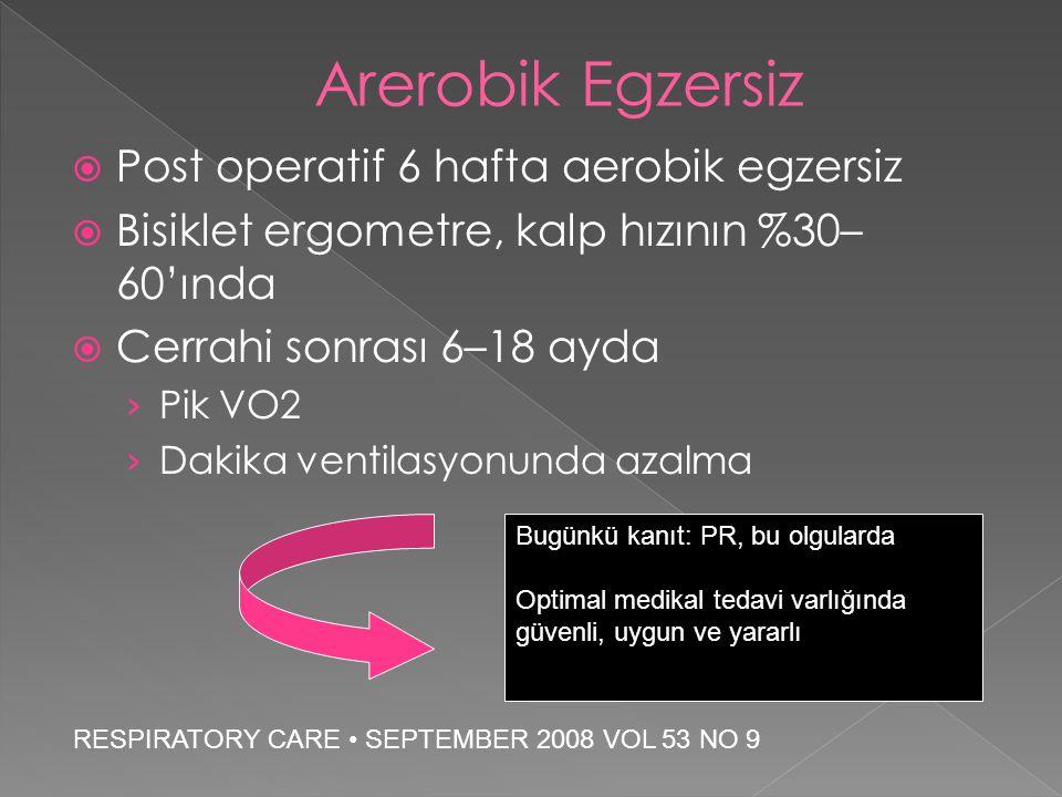 Arerobik Egzersiz Post operatif 6 hafta aerobik egzersiz