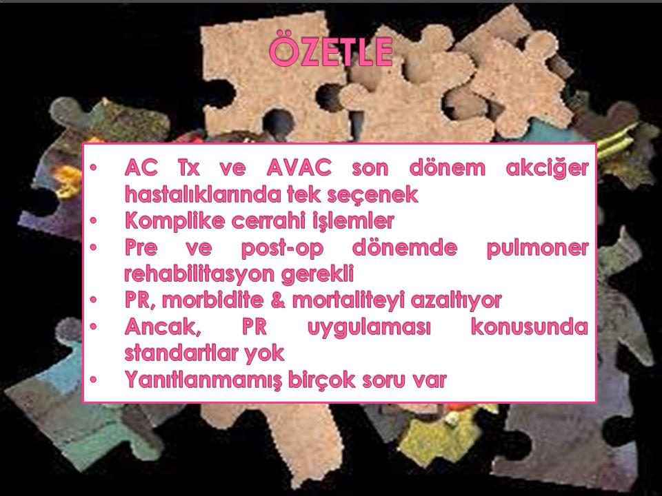 ÖZETLE AC Tx ve AVAC son dönem akciğer hastalıklarında tek seçenek