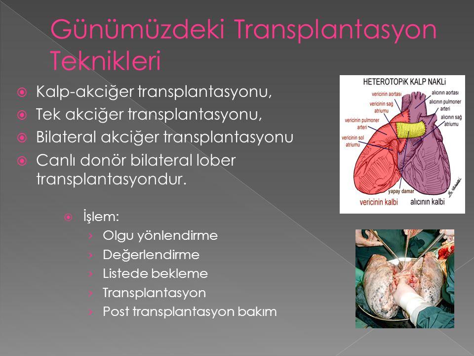Günümüzdeki Transplantasyon Teknikleri