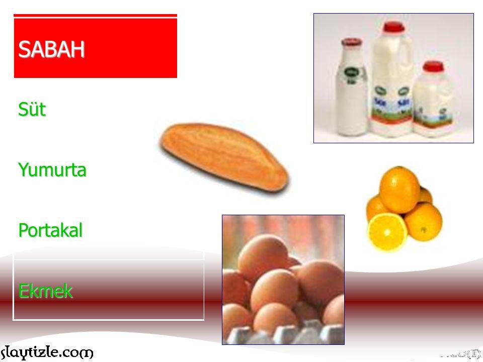 SABAH Süt Yumurta Portakal Ekmek