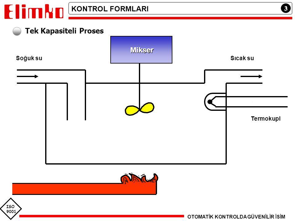 KONTROL FORMLARI Tek Kapasiteli Proses Mikser 3 Soğuk su Sıcak su