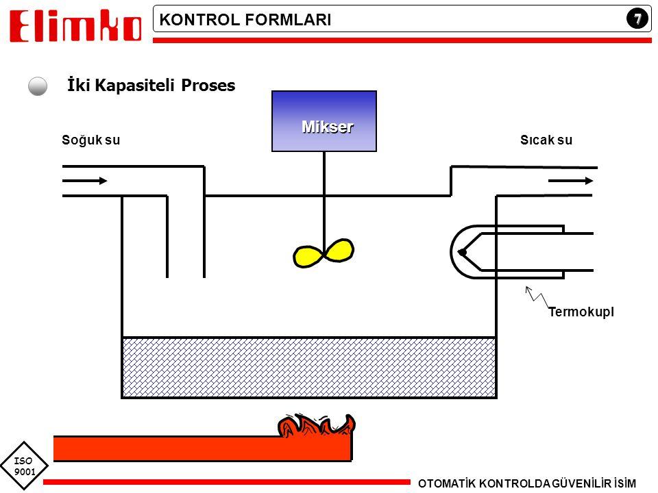 KONTROL FORMLARI İki Kapasiteli Proses Mikser 7 Soğuk su Sıcak su