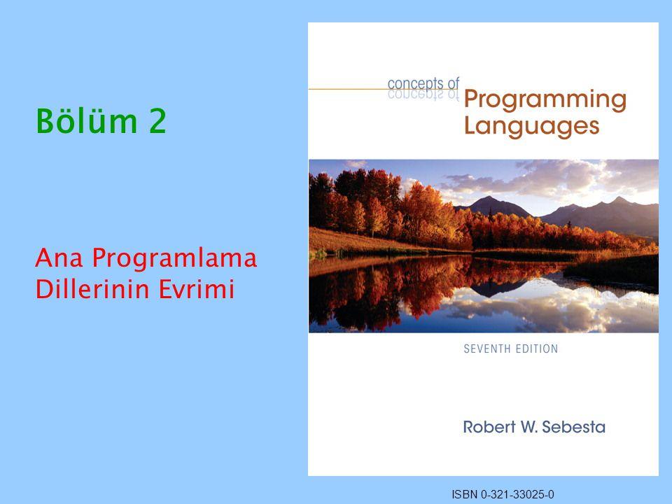 Ana Programlama Dillerinin Evrimi