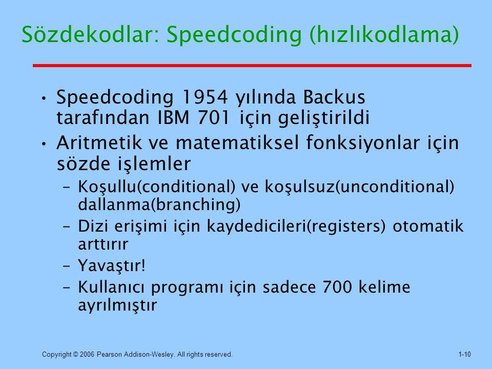 Sözdekodlar: Speedcoding (hızlıkodlama)
