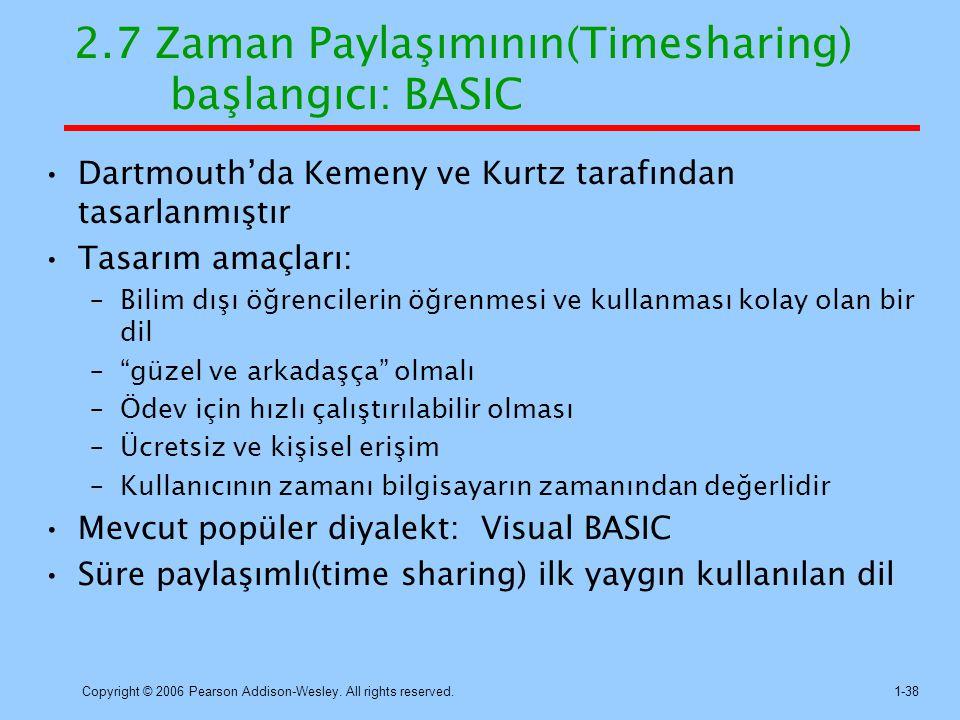 2.7 Zaman Paylaşımının(Timesharing) başlangıcı: BASIC