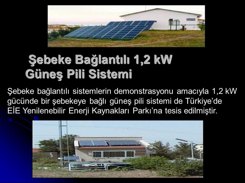 Şebeke Bağlantılı 1,2 kW Güneş Pili Sistemi