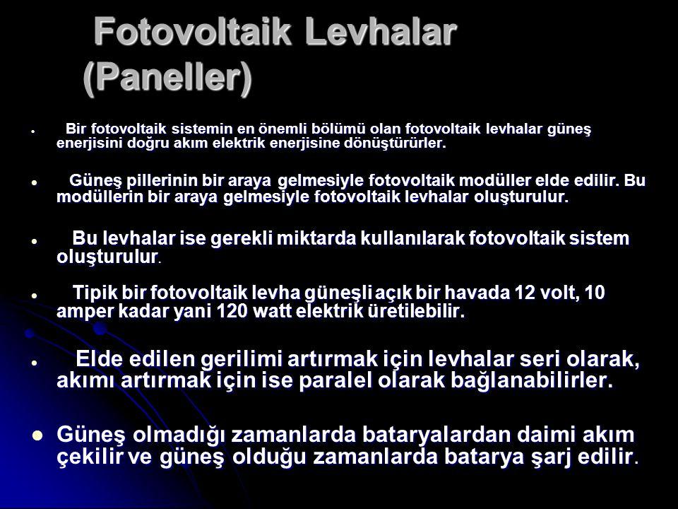 Fotovoltaik Levhalar (Paneller)