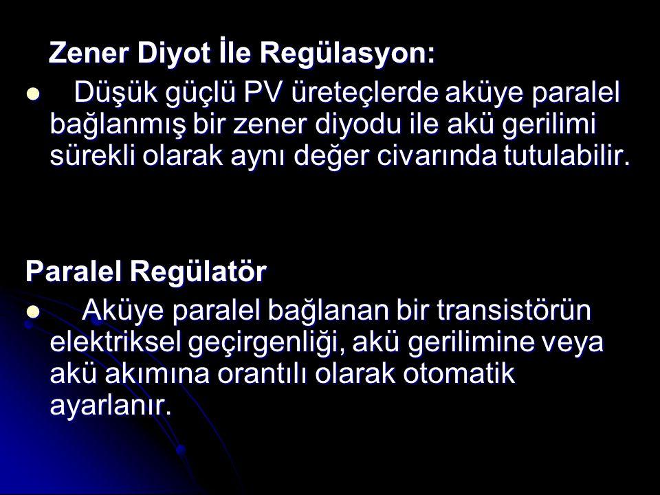 Zener Diyot İle Regülasyon: