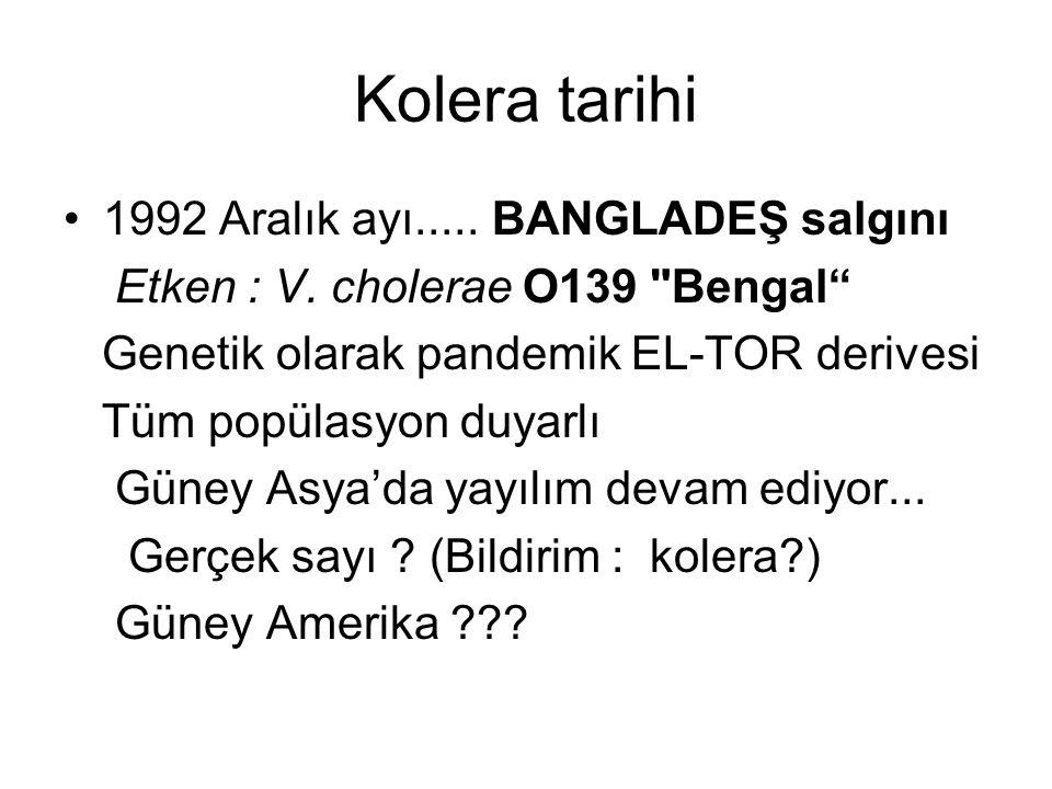 Kolera tarihi 1992 Aralık ayı..... BANGLADEŞ salgını