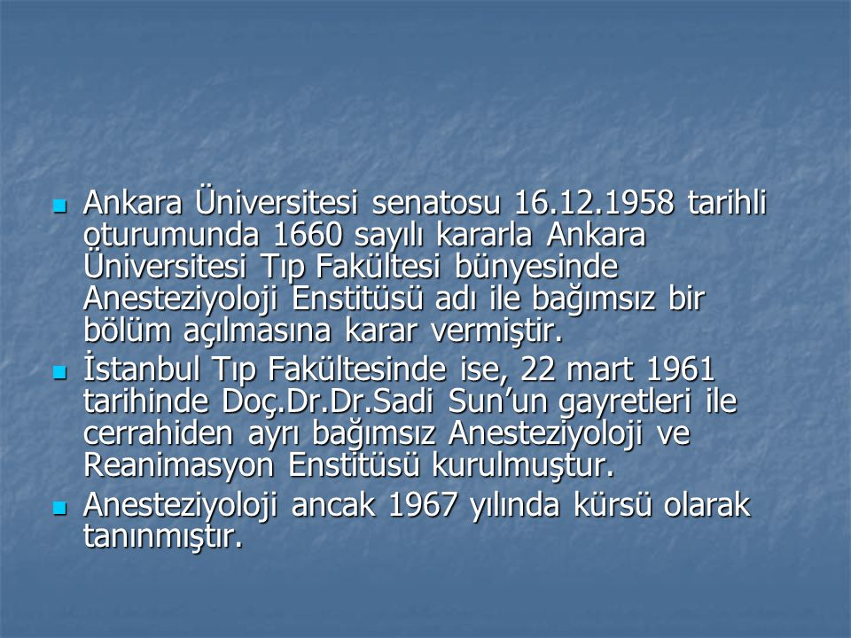 Ankara Üniversitesi senatosu 16. 12