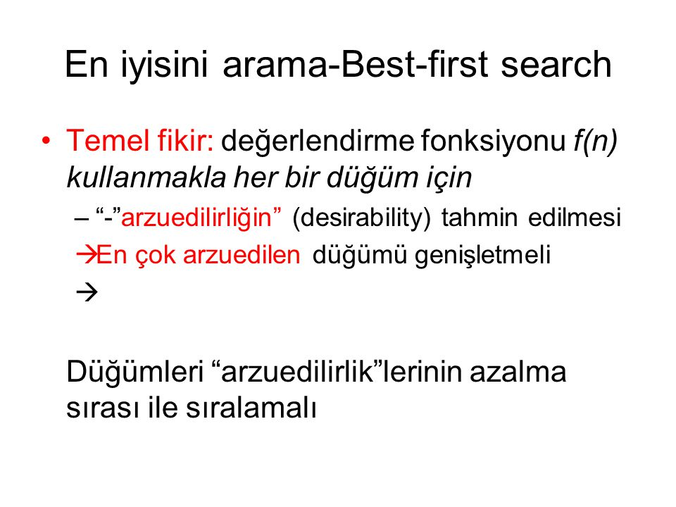 En iyisini arama-Best-first search