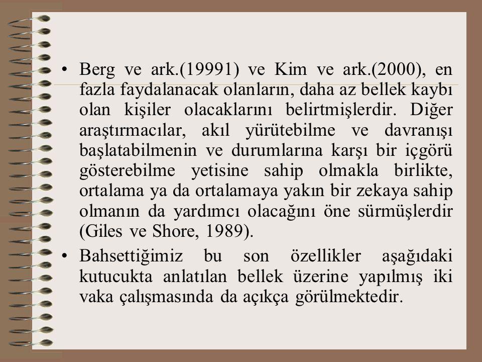 Berg ve ark. (19991) ve Kim ve ark