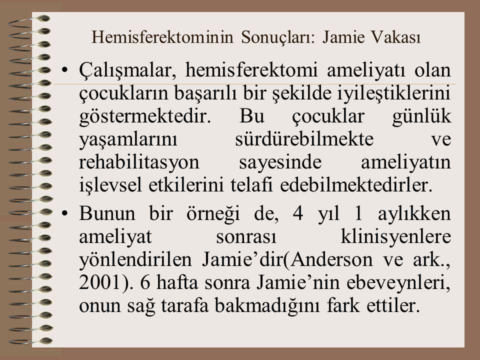 Hemisferektominin Sonuçları: Jamie Vakası
