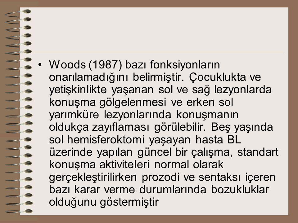 Woods (1987) bazı fonksiyonların onarılamadığını belirmiştir