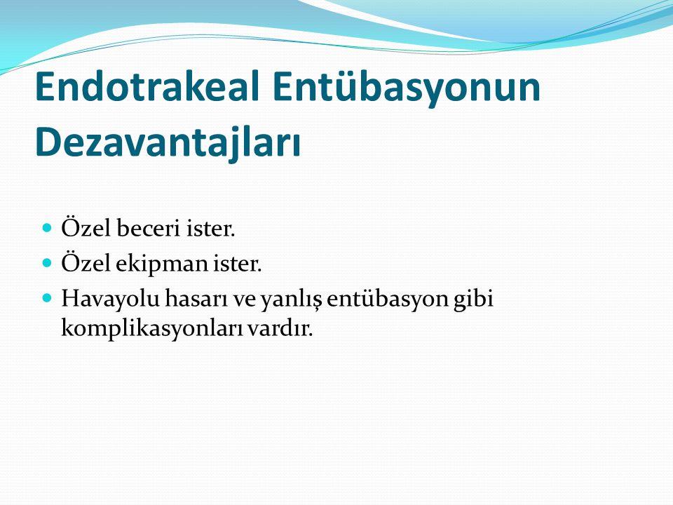 Endotrakeal Entübasyonun Dezavantajları