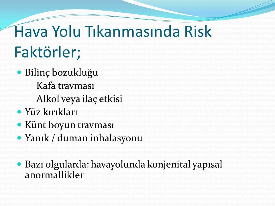 Hava Yolu Tıkanmasında Risk Faktörler;
