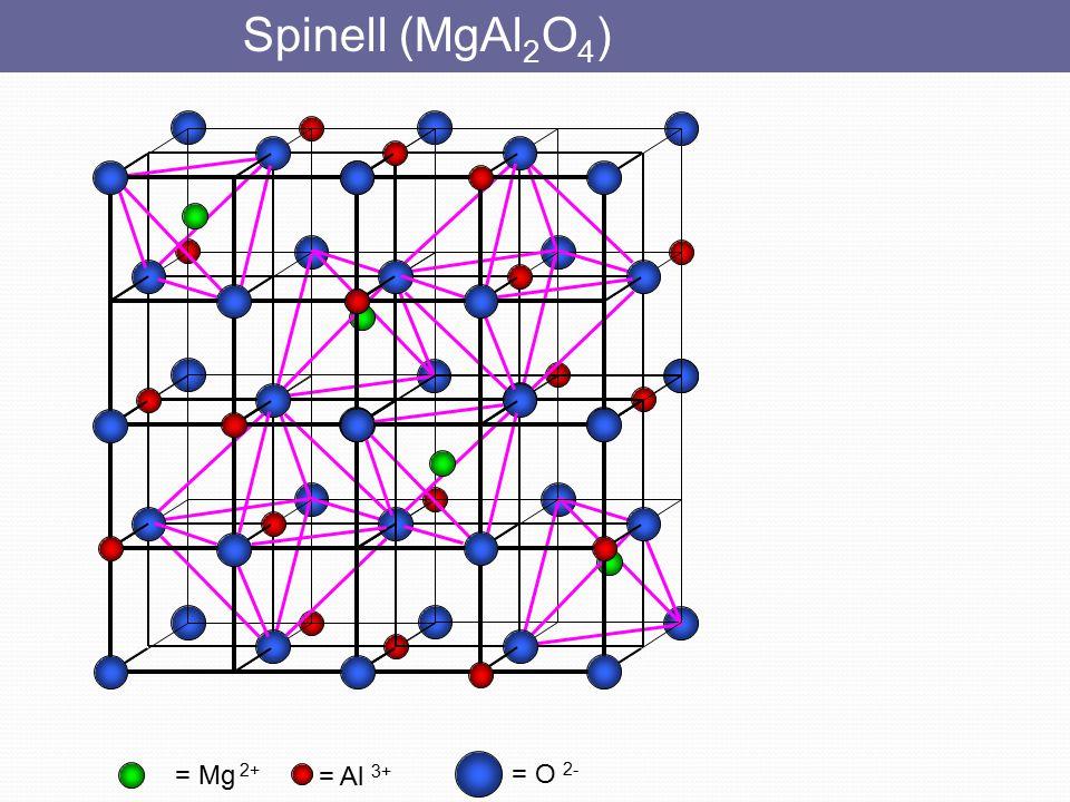 Spinell (MgAl2O4) = Mg 2+ = Al 3+ = O 2-
