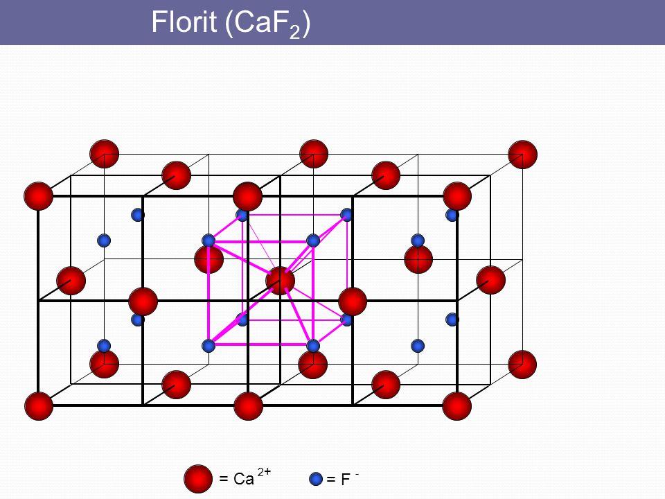 Florit (CaF2) = Ca 2+ = F -
