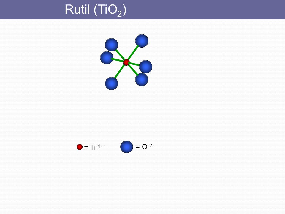 Rutil (TiO2) = Ti 4+ = O 2-