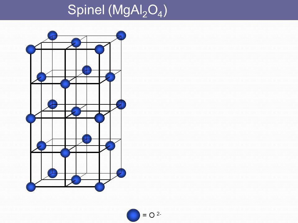 Spinel (MgAl2O4) = O 2-