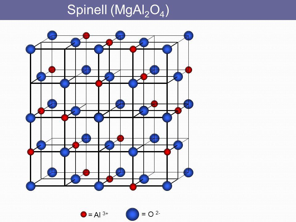 Spinell (MgAl2O4) = Al 3+ = O 2-