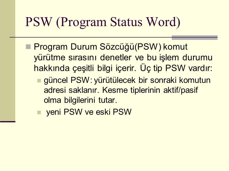 PSW (Program Status Word)