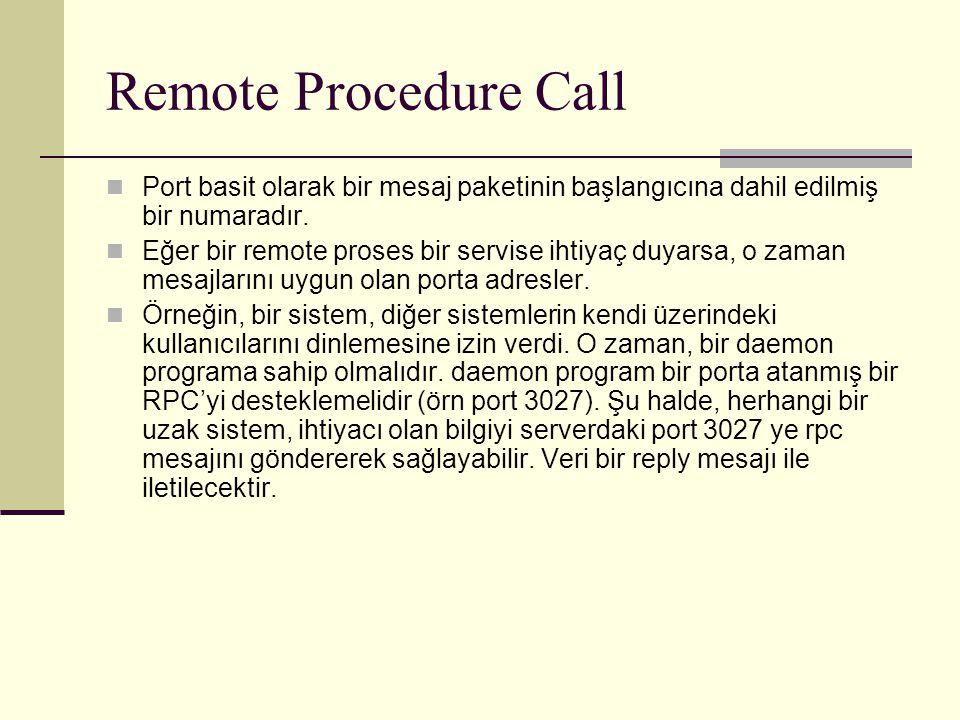 Remote Procedure Call Port basit olarak bir mesaj paketinin başlangıcına dahil edilmiş bir numaradır.