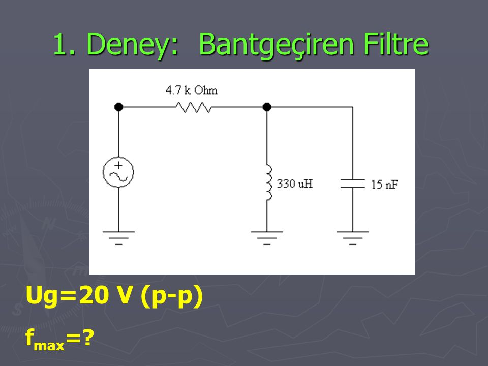 1. Deney: Bantgeçiren Filtre